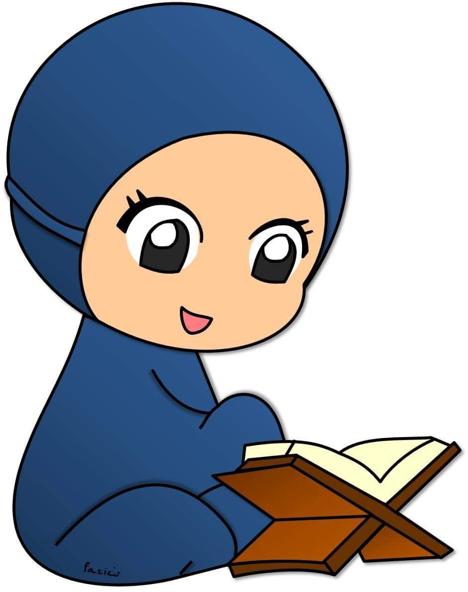 Islamic Cartoon Anime Muslim Kids Doodles