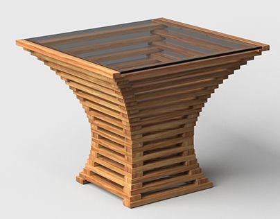 Pin de thearcstudio en 3d models en 2019 wood table for Mobilia kitchen table