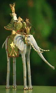 KrinklesOnline by Patience Brewster - 2009 Krinkles Nativity Magi on Animal Elephant Christmas Ornament