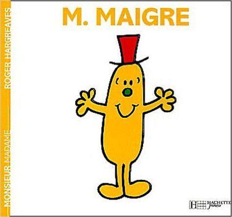 Amazon Fr Monsieur Maigre Roger Hargreaves Livres