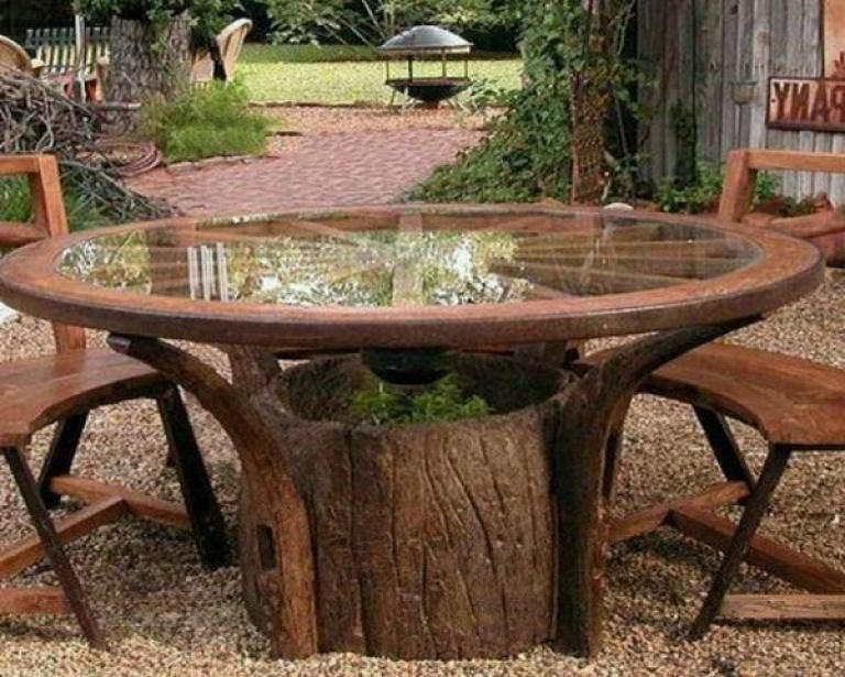 Unique the Old Tree Stumps Ideas Stump table outdoor