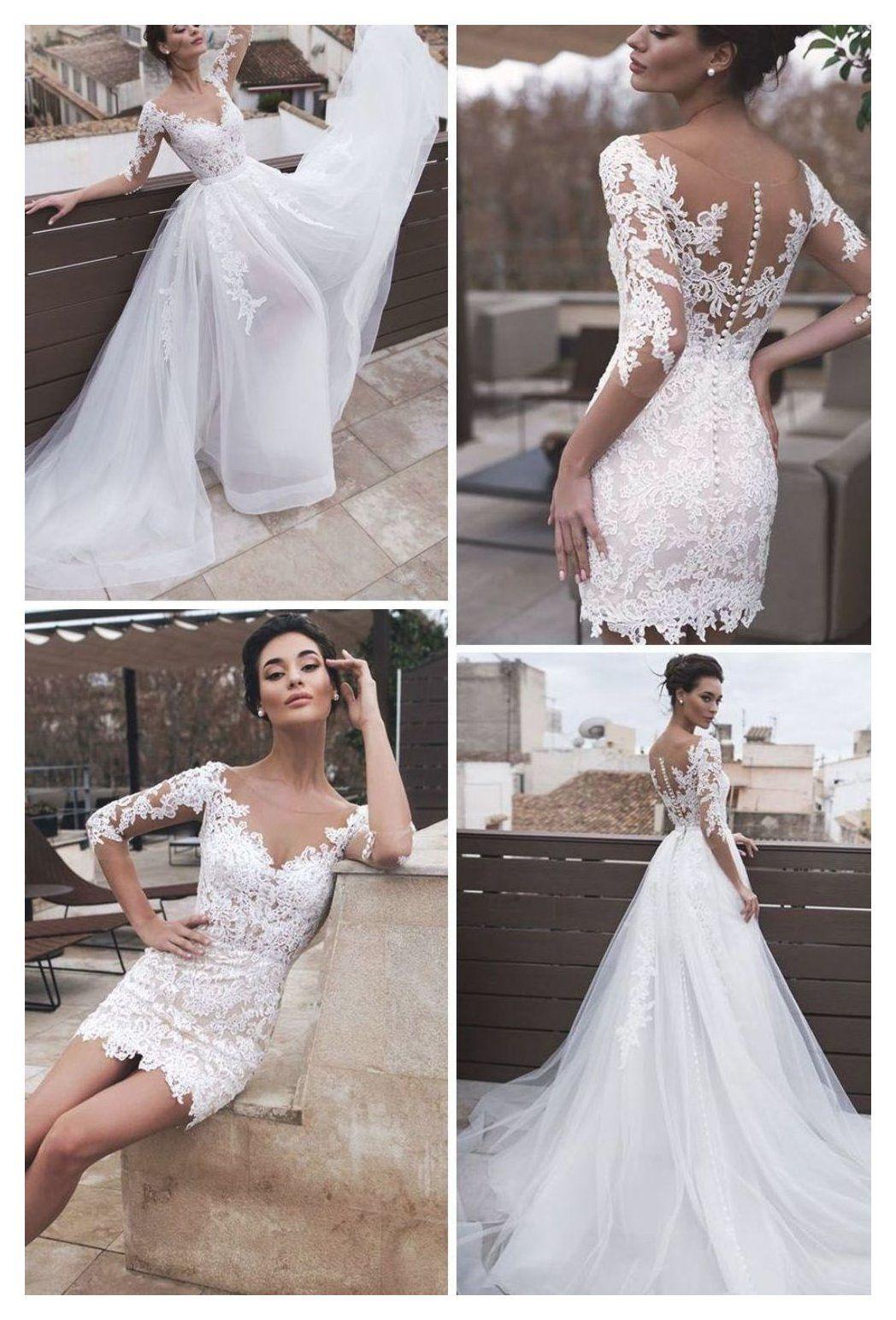 Short Wedding Dress With Detachable Skirt Shortweddingdresswithdetachableskirt Wedding Dress Detachable Skirt Civil Wedding Dresses Short Wedding Dress [ 1543 x 1048 Pixel ]
