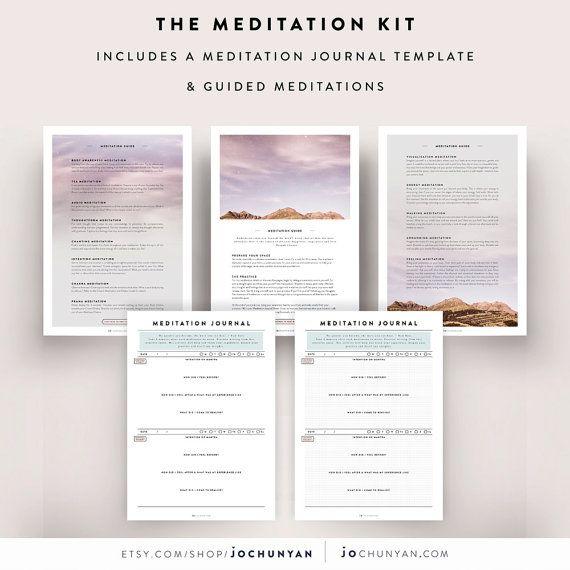 Meditation Journal   Guided Meditation Meditation by JoChunYan - daily diary template