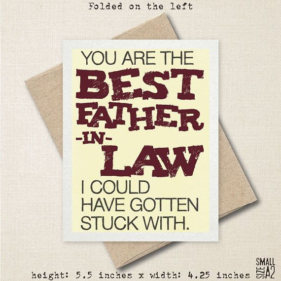 You Re The Best Father In Law Father S Day Card Funny Card