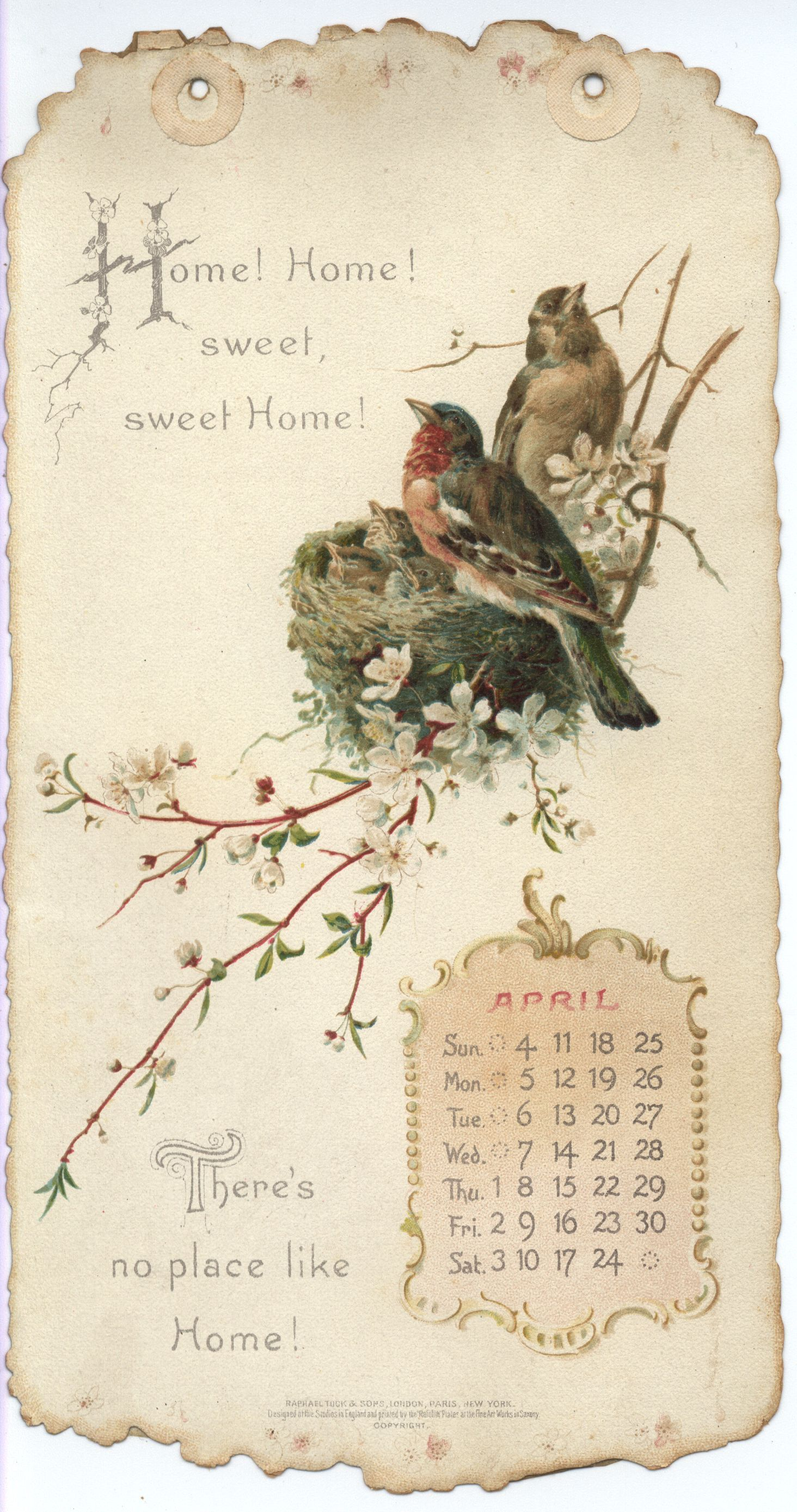 Home Sweet Home Calendar For Mix