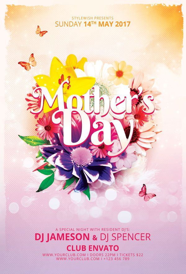 Mother\u0027s Day Flyer Template by styleWish Celebrate Mother\u0027s Day