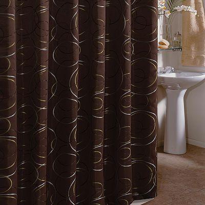 Veratex Eclipse Shower Curtain Brown Shower Curtain Fabric