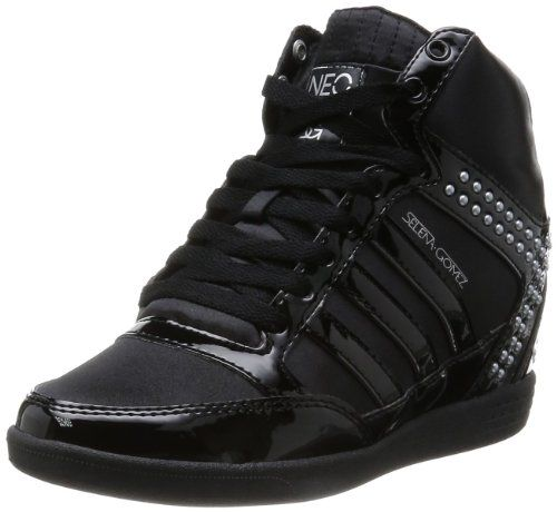 Adidas Neo Women's Selena Gomez Bbeno Wedge Shoes Black 9.5