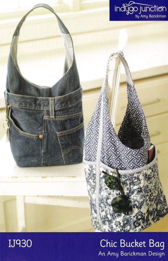 PATTERN- Recycled Denim Jeans Bag by Indygo Junction | Bolsas ...