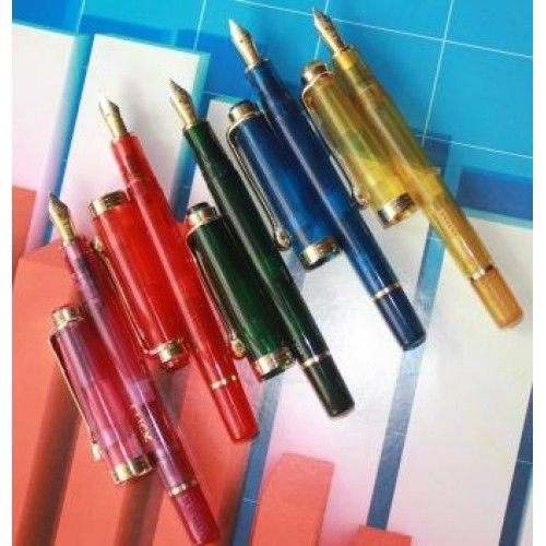 Click Neo Tulip Colourful Transparent Piston Filling Fountain Pen - ASAPENS  | India | Buy Online
