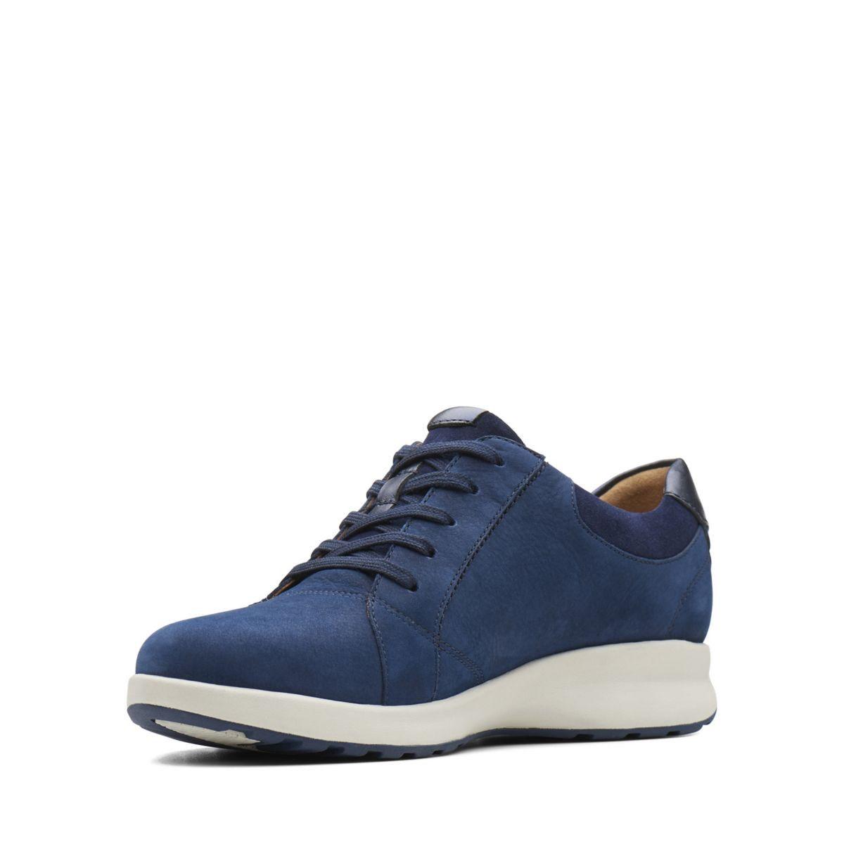 d204a321c0 Clarks Un Adorn Lace - Womens Shoes Navy Combination 9.5 E (Wide) Out Of  Stock