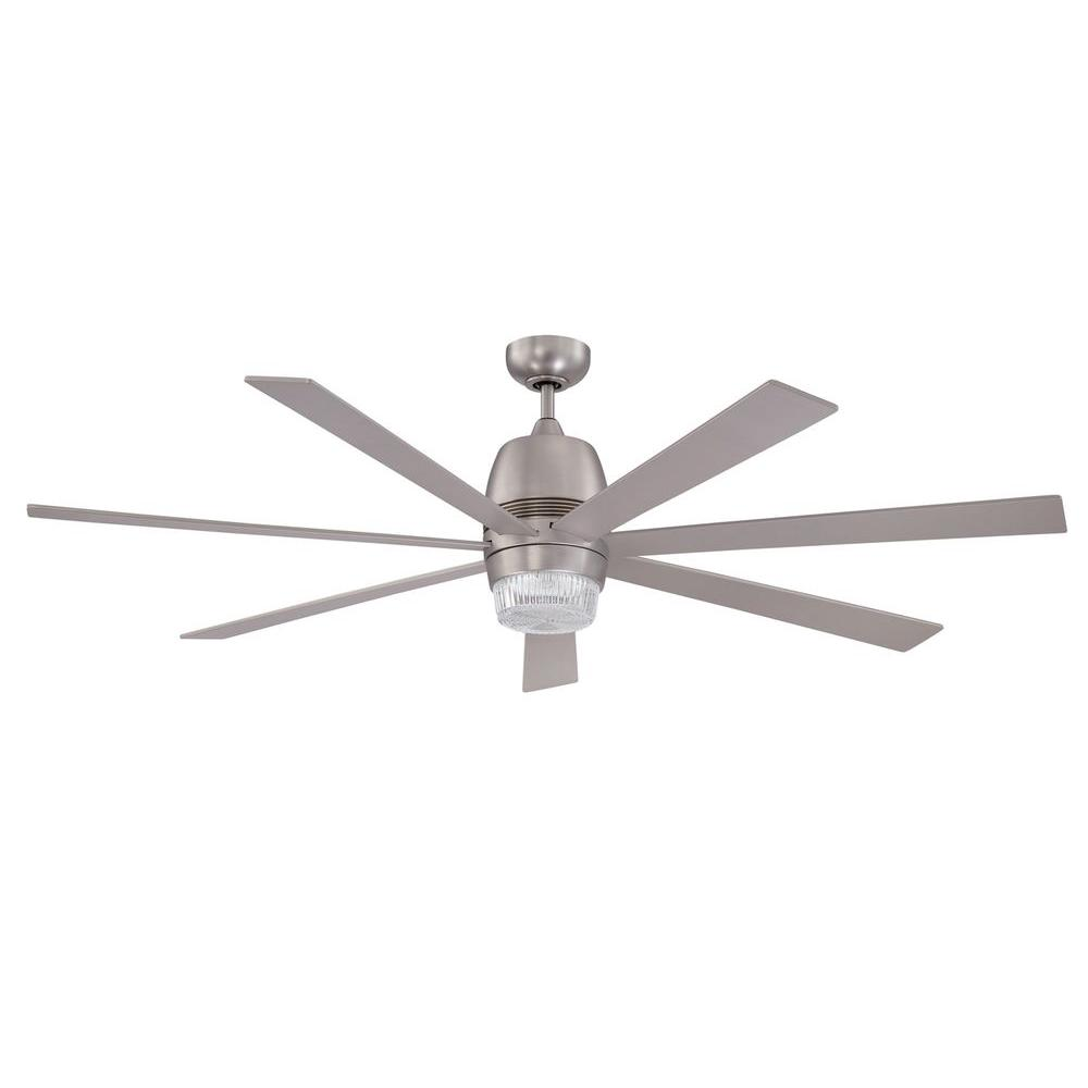 Nebulon 60 In Satin Nickel Ceiling Fan There S Actually One Larger My Husband Loves It Ceiling Fan 60 Inch Ceiling Fans Bronze Ceiling Fan