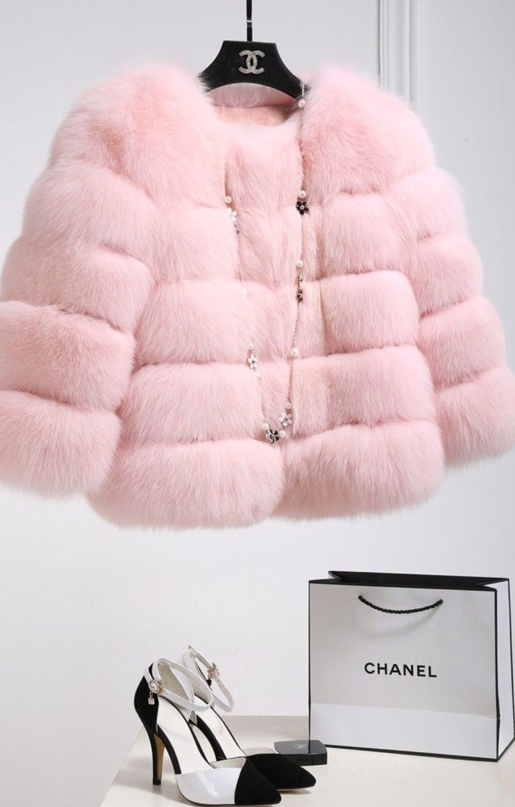 08fc27dc1a8f Baby pink Chanel Jacket