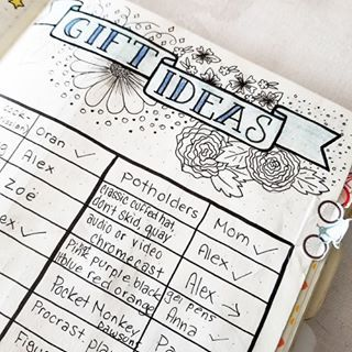 Know the frantic feeling of searching for last minute gift Use your planner to track and plan them out thoughtfully so you can look like the generous friend you really are Check out todays blog post from alinila for more ideas and giftspirationbulletjournal bujo planner planneraddict flashesofdelight bulletjournaljunkies bujo plannergirl crafty thatsdarlinghttpbitlywBCOhn