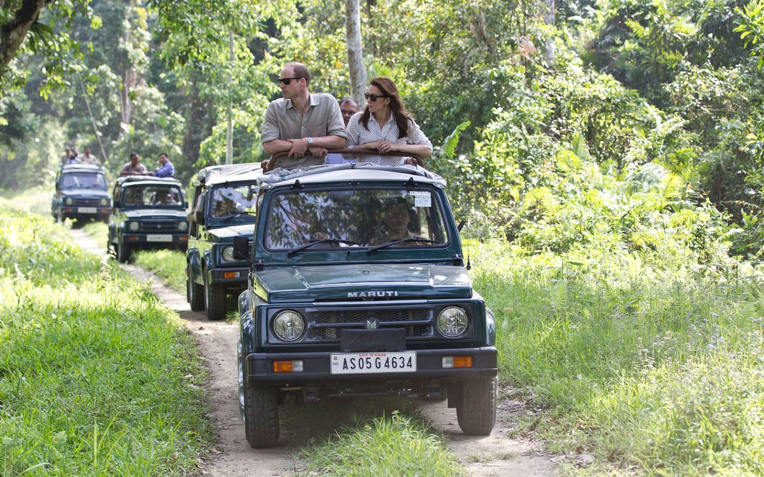 Will and Kate enjoyed a safari where they spotted rhinos and elephants.