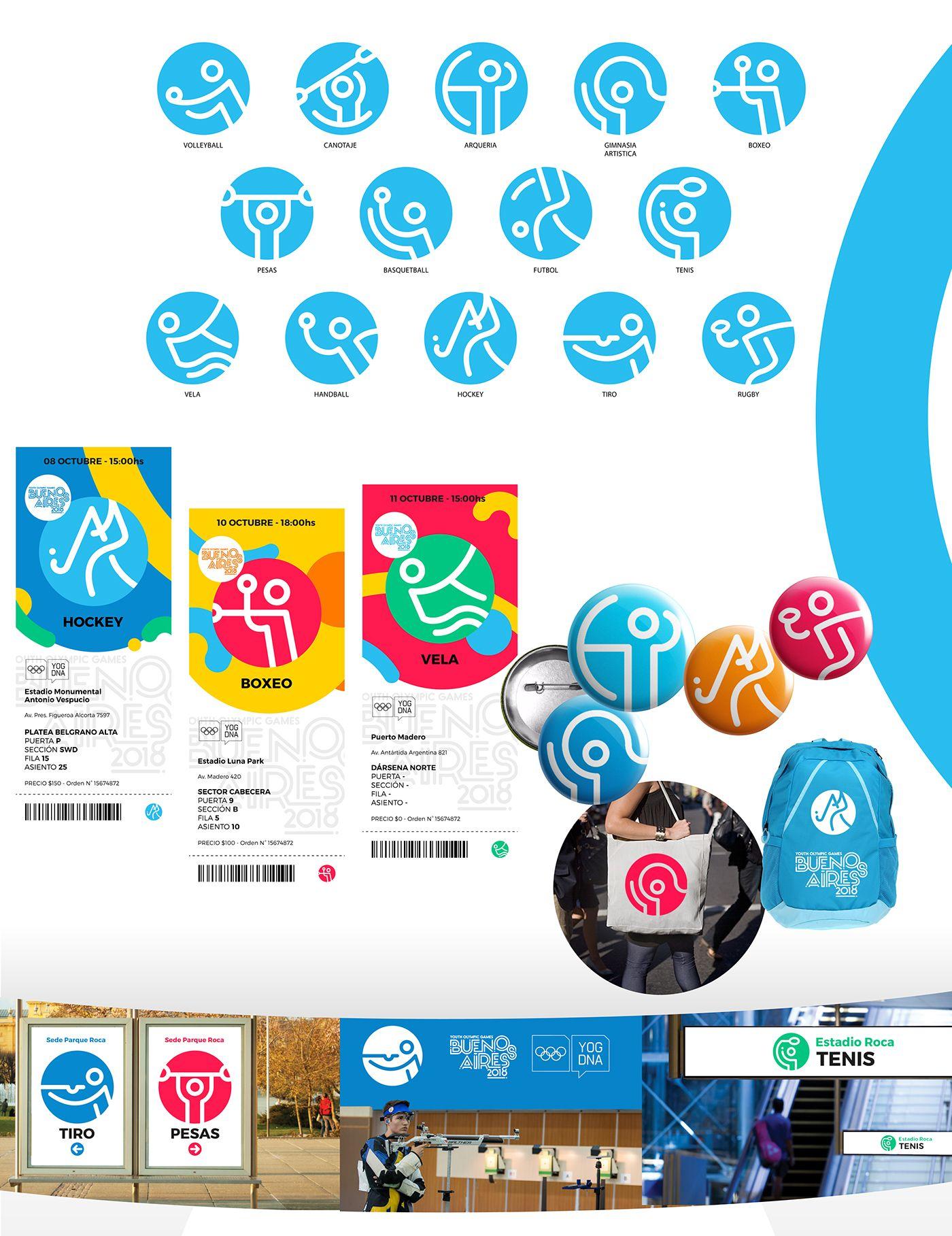 Juegos Olimpicos De La Juventud Buenos Aires 2018 On Behance Icons
