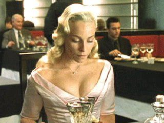 The matrix reloaded cake scene, but there's something wrong with the cake