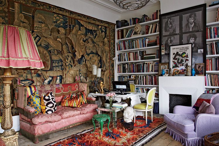A STUDIO IN CONTRASTS  Belgian architect and interior designer Gert Voorjans transformed Dries Van Noten's retail empire, creating homey environments layered with decorative elements from around the globe—and tied aesthetically to his home and studio in Antwerp, the birthplace of his eclectic inspirations.