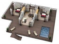 Best Free Floor Plan Software With Modern 3d Home Floor Plan With Simple Out Door Pool Design For Free Floo Home Design Software House Design Floor Plan Design
