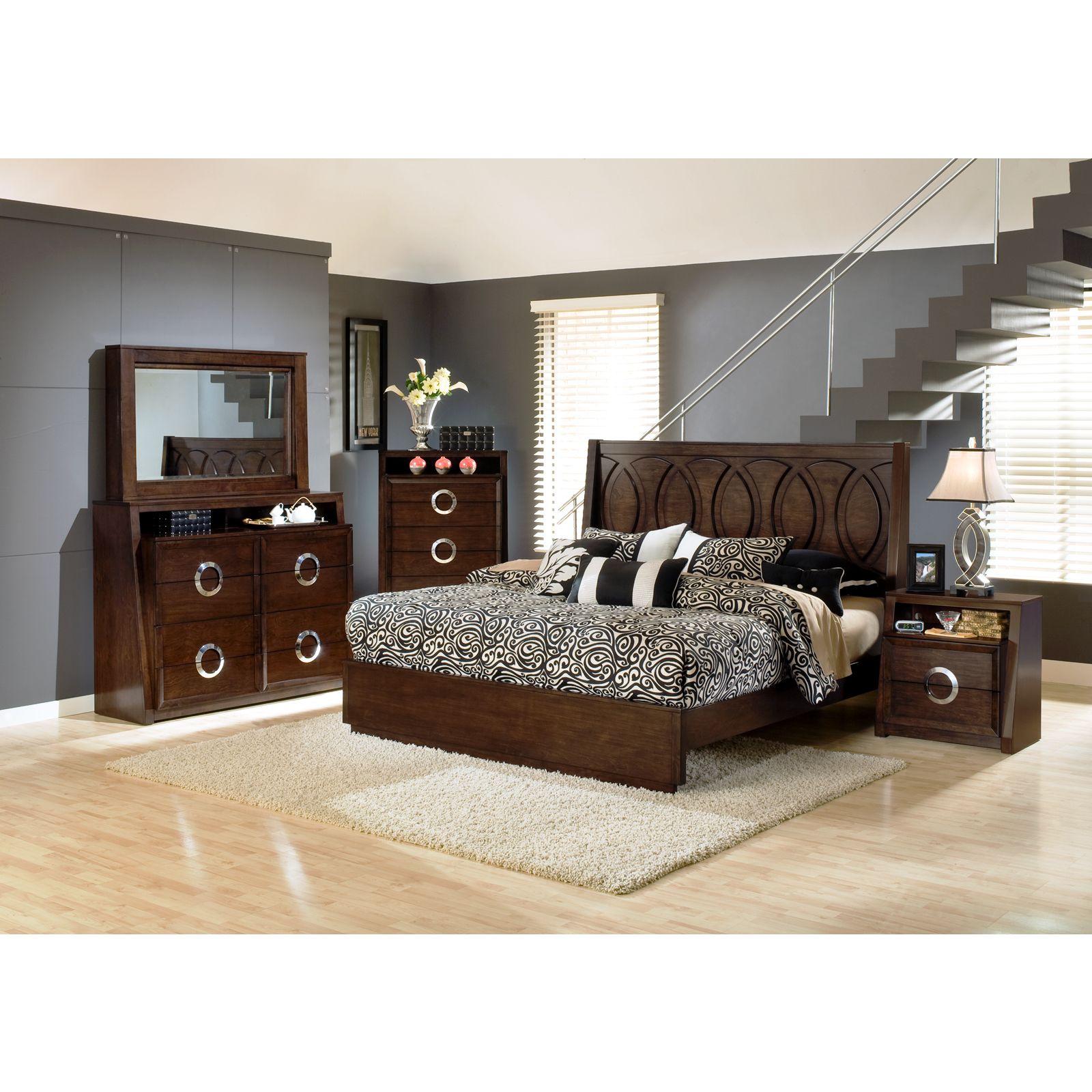 Presley Dark Birch Bedroom Set   Overstock Shopping   Big Discounts On Bedroom  Sets
