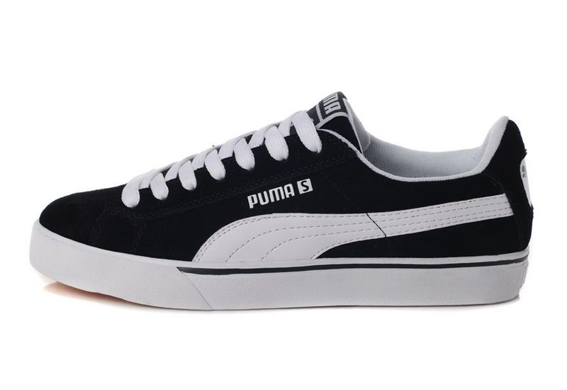 black and white pumas shoes