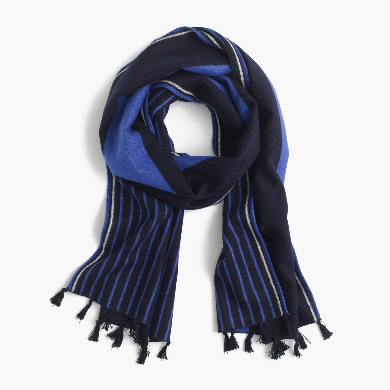 J.Crew Womens Brushed Silk Striped Scarf