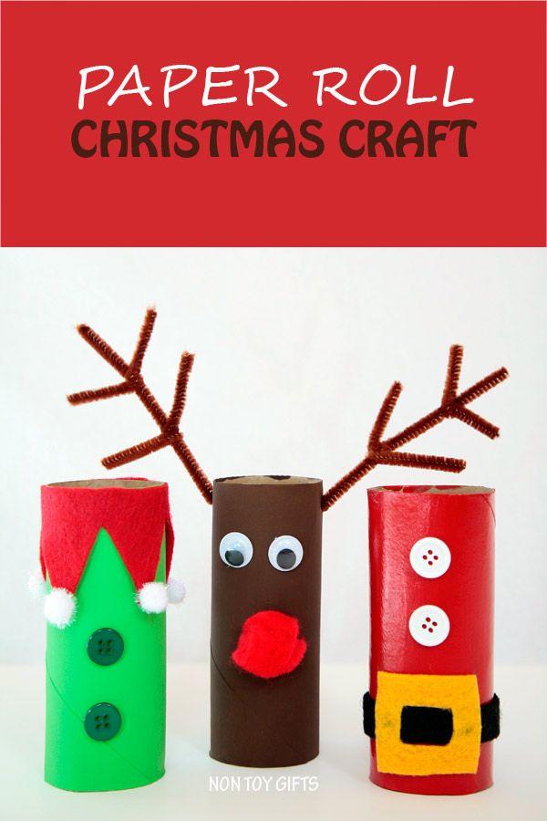 Paper Roll Christmas Craft | Navidad, Preescolar y Manualidades navidad