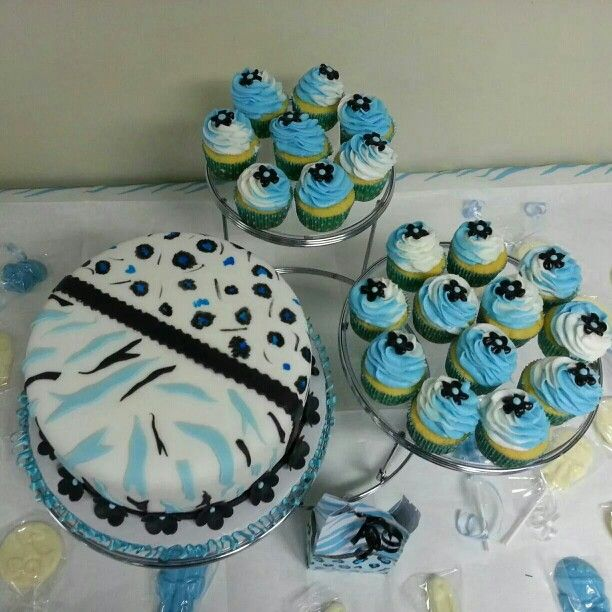 The Cake and Cupcakes were made by Pamela Gonzalez, if you need a specialty cake or cupcakes, call me at 609-226-3423, thanks. :)