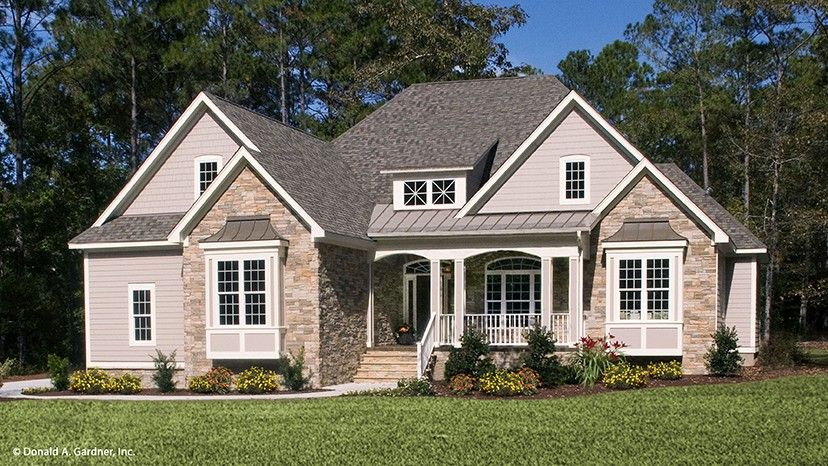 Home plan homepw76091 2046 square foot 3 bedroom 2 for Www homeplans com