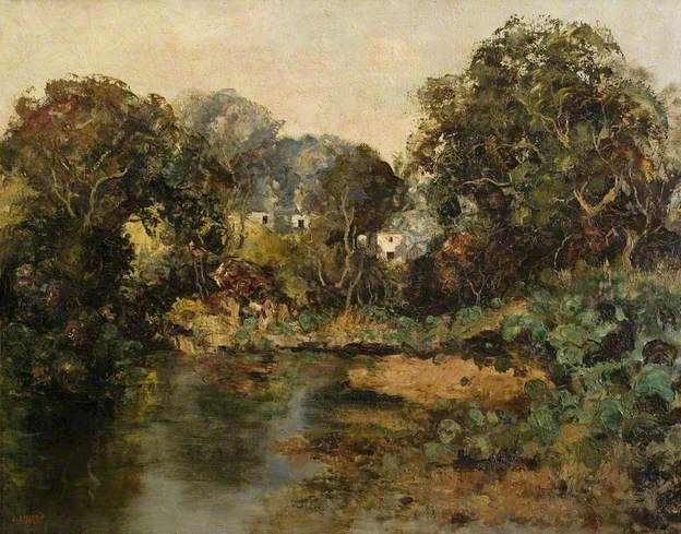 Copland, John, (1854-1929), A Pool on the Grennan, 1922, Oil