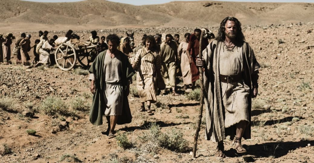 Image result for moses leading the israelites through the desert