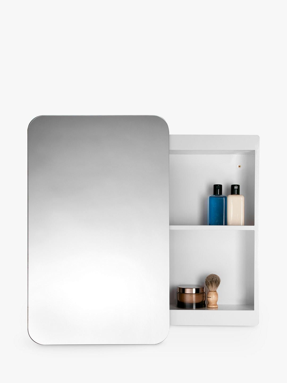 John Lewis Partners Single Mirrored Sliding Door Bathroom Cabinet Sliding Doors Sliding Shelves Medicine Cabinet Mirror