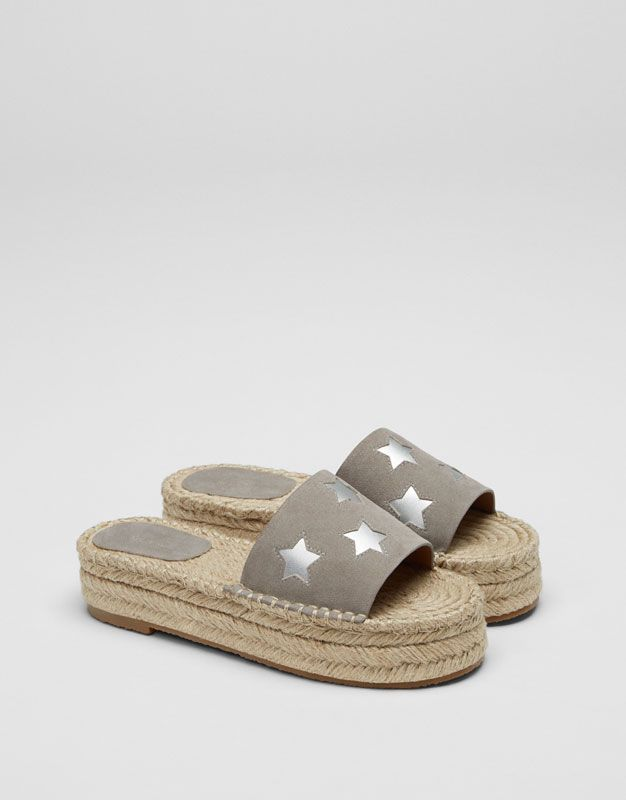 88a8ec080c0 Stars jute sandals - See all - Shoes - Woman - PULL BEAR United Arab  Emirates