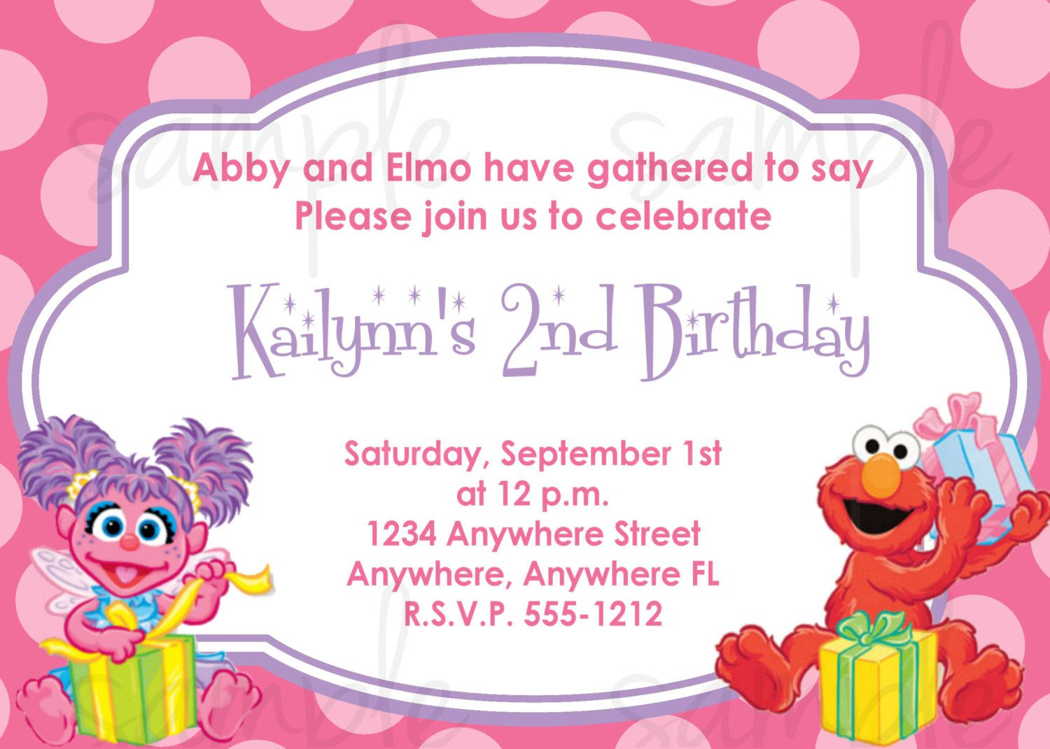 Abby Cadabby And Elmo Birthday Invitation By Lovelifeinvites 2nd