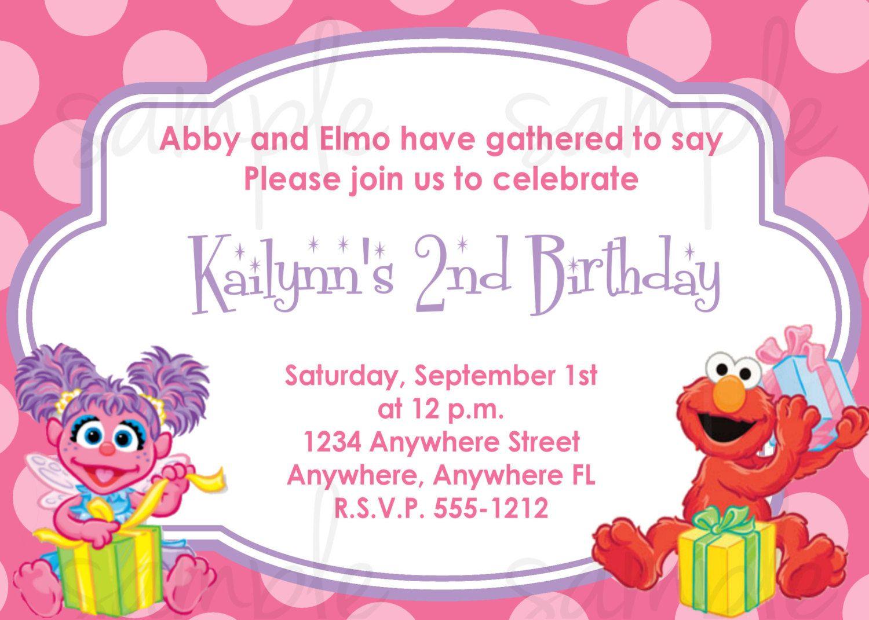 Abby Cadabby and Elmo Birthday Invitation by LoveLifeInvites – Abby Cadabby Birthday Invitations