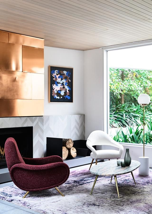 Superb A Striking Home Renovation Inspired By The 80s | 80s Style, Living Rooms  And Room