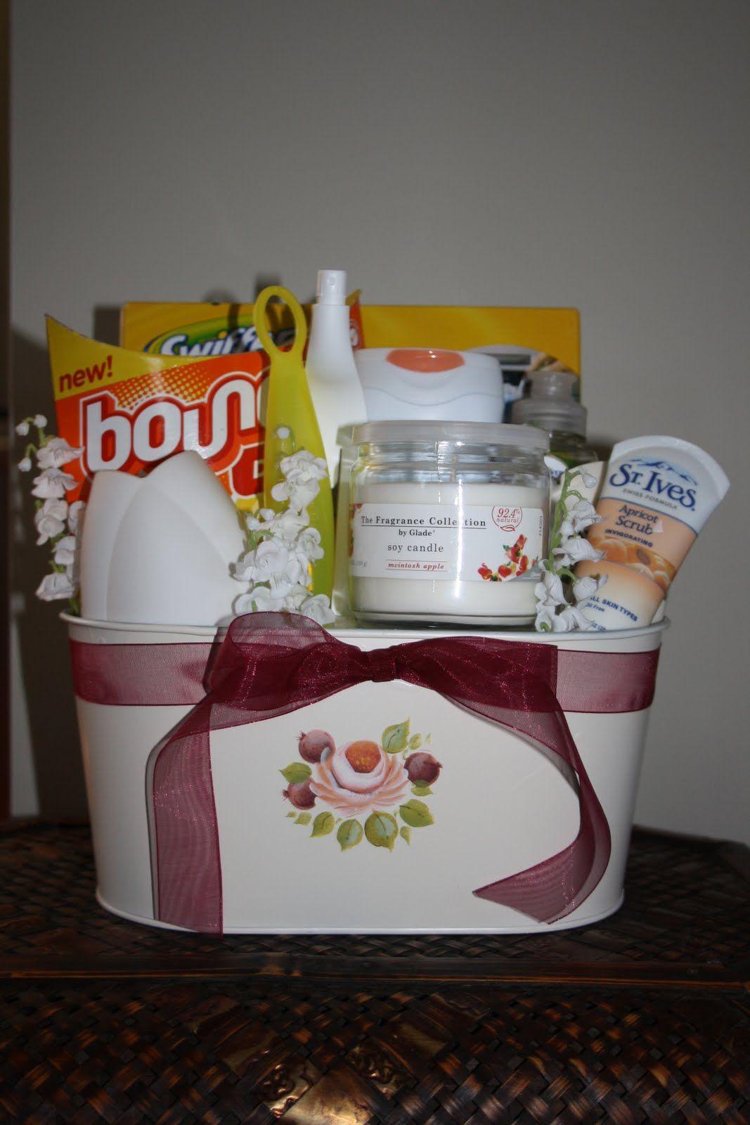 housewarming gift basket gift giving ideas pinterest housewarming gift baskets. Black Bedroom Furniture Sets. Home Design Ideas