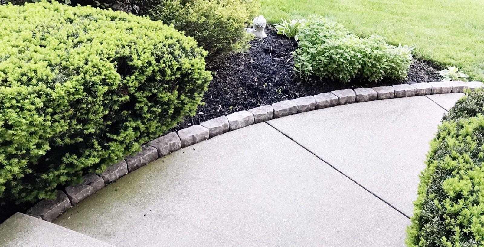 Sidewalk Border Pavers Edgers Outdoor Landscaping Landscape