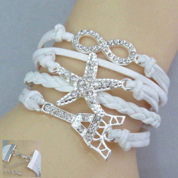 Chic Tower Shape Multi-Layered Women's Friendship Bracelet Watch