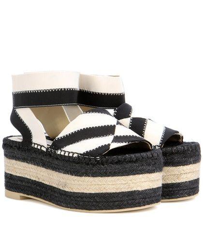 Stella McCartney Striped espadrille platform sandals Clearance Visit New Discount Many Kinds Of Nnu7QWaE
