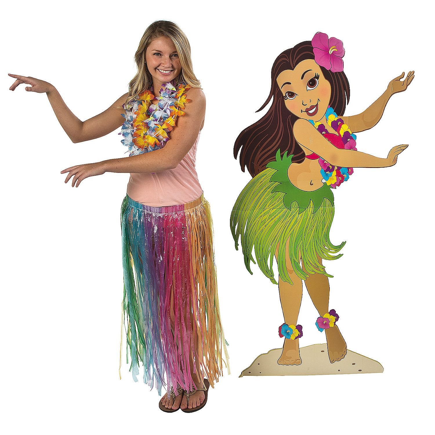 Lei Girl Stand-Up - OrientalTrading.com