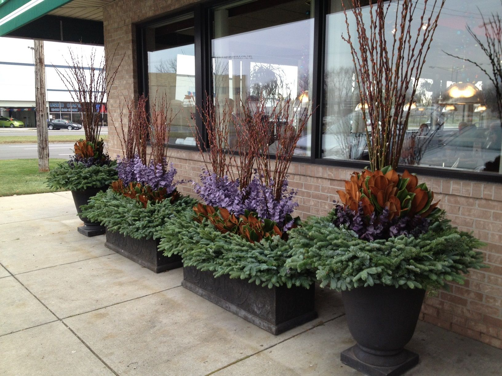 winter containers jpg container ideas pinterest winter