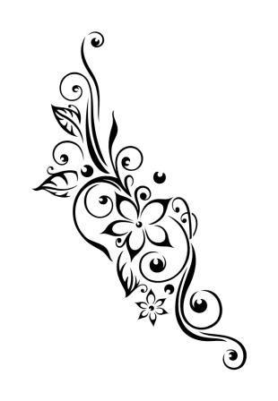 Pochoir Tatouage Temporaire Orchidee Fleur 22 Pochoirs Tatouage Idees De Tatouages Tatouage Arabesque