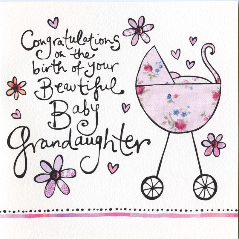 congratulations on the birth of your grandaughter card cards for new