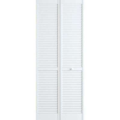 24 In X 78 In Louver Pine White Interior Closet Bi Fold Door Bifold Door Hardware Bifold Doors Stylish Doors