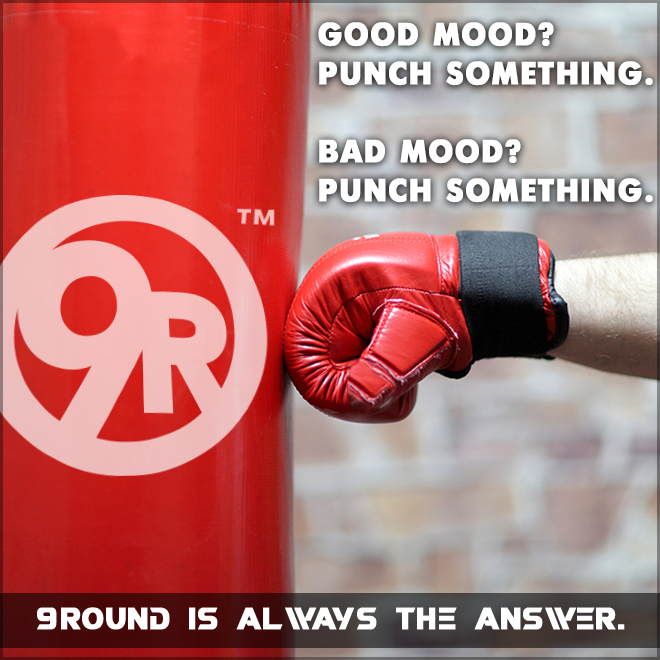 It doesn't matter what type of mood you're in, 9Round is