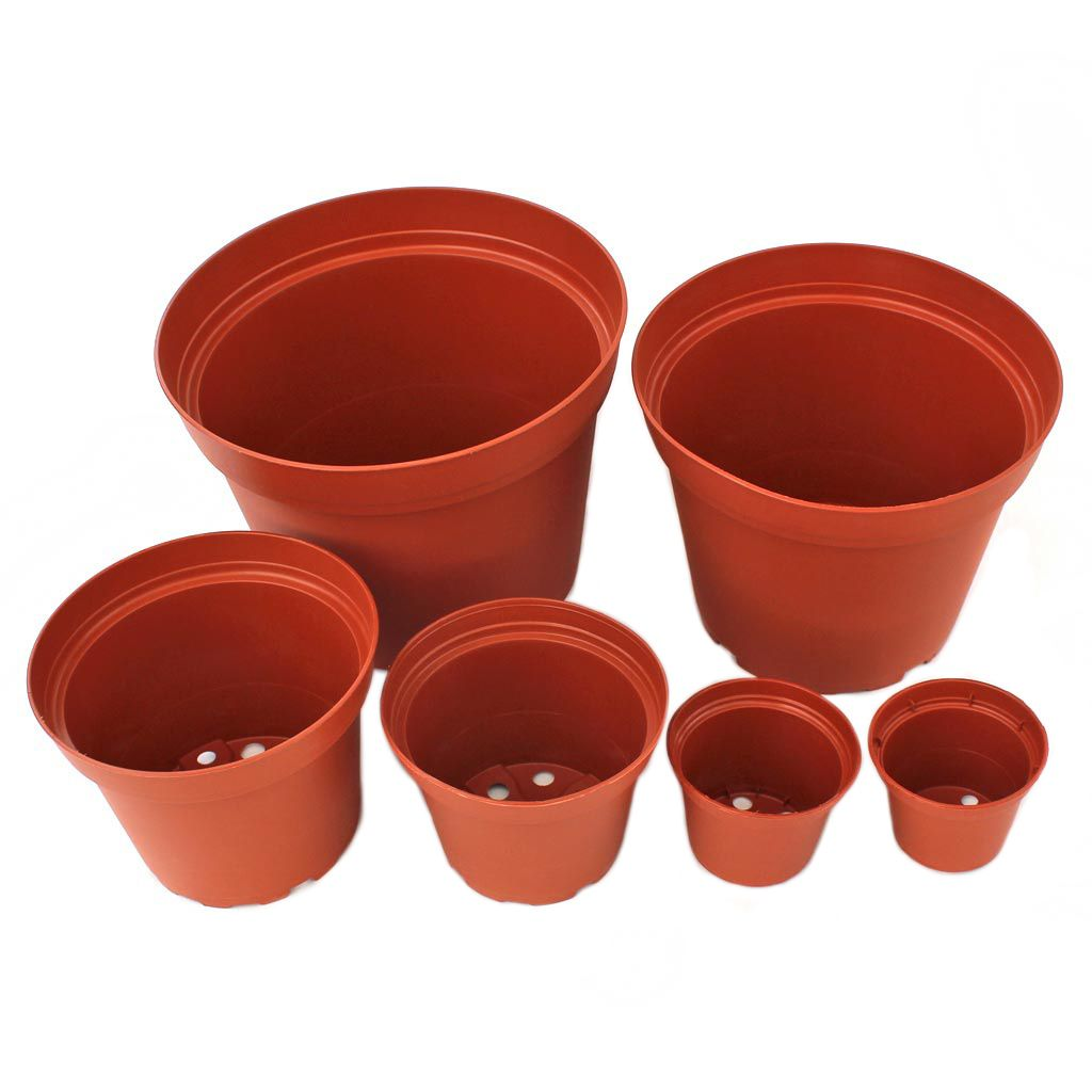 Plastic Terracotta Pot W Drainage Hole Multiple Sizes Terracotta Pots Terracotta Plastic Pots