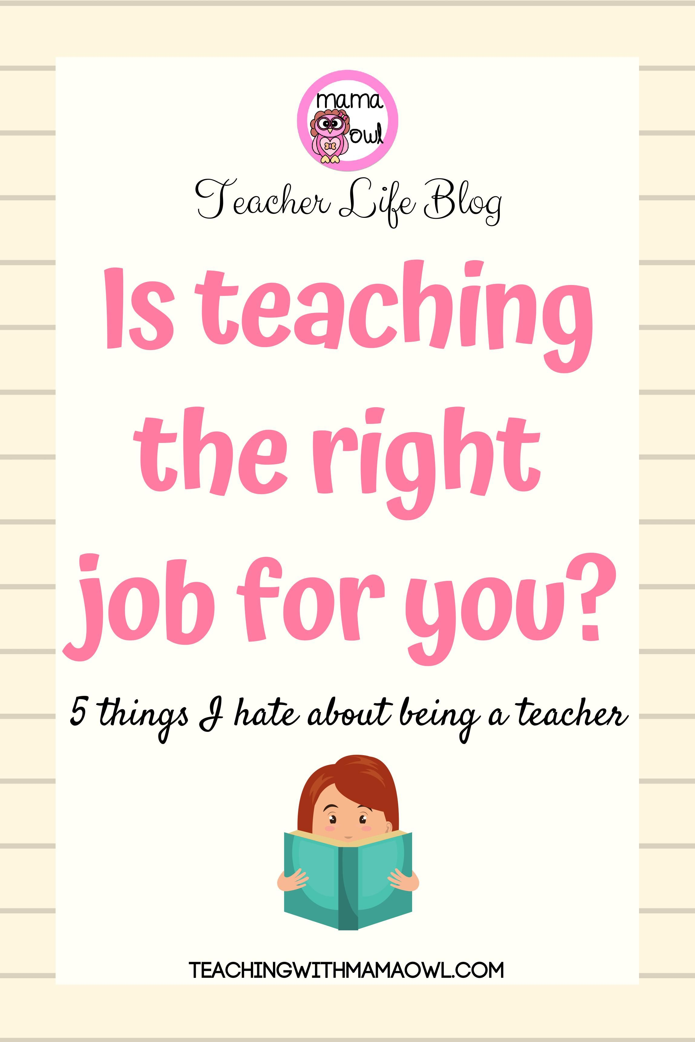 Is teaching the right job for you? Teaching, Teacher