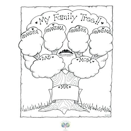 Tree Coloring New Family Tree Coloring Page For Kids Printable For Snazzy Family Tree Coloring Page For Ki Tree Coloring Page Family Tree Family Tree Printable