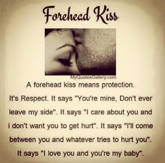 What is the meaning of forehead kiss
